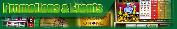 Casino On Net Promotions & Events